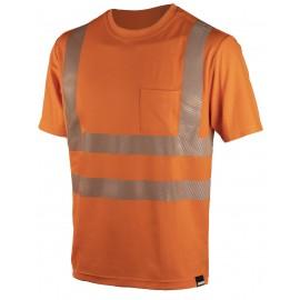 Сигнальная футболка Dimex 4338R+