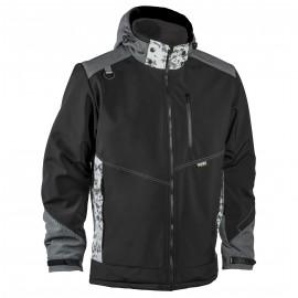 Зимняя куртка Dimex 6073 Softshell, черный/серый