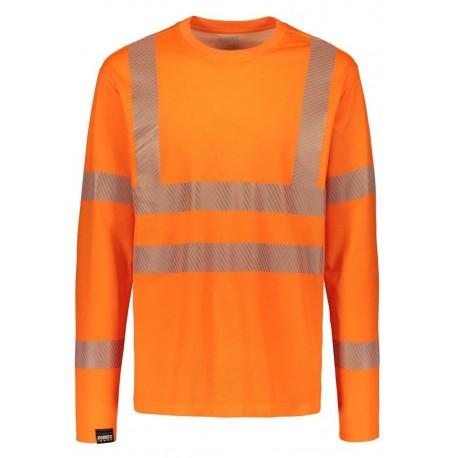 Сигнальная футболка с длинными рукавами 4295+Dimex